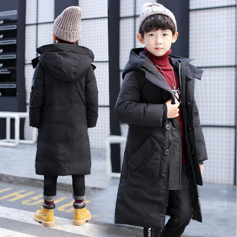 Winter Boys Jacket 2017 Fashion Casual Boys Parkas Teenage Warm Hooded Children Outerwear Kids Coats Clothes for 8 10 12 Years children winter coats jacket baby boys warm outerwear thickening outdoors kids snow proof coat parkas cotton padded clothes