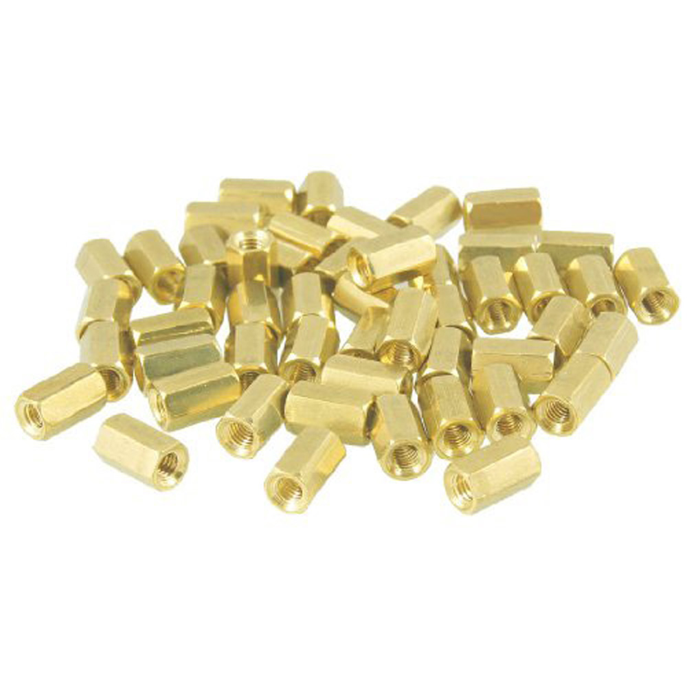 COFA  50 Pcs Metal Hex M3 Female Screw PCB Standoff Spacers 8mm Body
