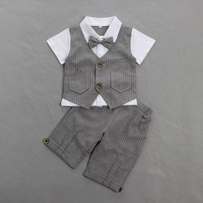 Baby Boy Formal Clothing Set For 1 Year Birthday Party and Wedding Clothing Fashion Toddler Outerwear Clothes Suit Child Boy Set 2pcs set baby clothes set boy