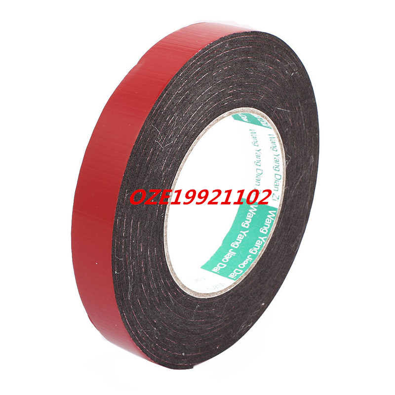 20mm x 2mm Dual Sided Self Adhesive Shockproof Sponge Foam Tape 5M Length 2pcs 2 5x 1cm single sided self adhesive shockproof sponge foam tape 2m length