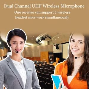 Image 2 - XIAOKOA Dual UHF Headset Wireless Microphone 1 Receiver 2 Headset and Handheld 2 In 1 Rechargeable for Teaching Voice Amplifier
