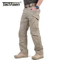 TACVASEN IX9 Erkekler Şehir Taktik Pantolon Çok Cepler Kargo Pantolon Askeri Savaş Pamuk Pantolon SWAT Ordu Rahat Pantolon JLTX-002-01