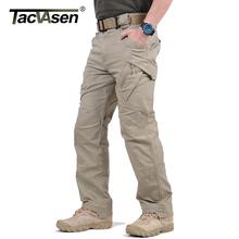 TACVASEN IX9 Men City taktyczne spodnie Multi kieszenie Cargo Spodnie wojskowe Combat bawełna spodnie SWAT Army casual spodenki JLTX-002-01 tanie tanio Mężczyzn Pełna długość Połowie Sukno Płaskie TD-JLTX-002-01 Spandex bawełna Spodnie cargo 28-40 Midweight Regularne