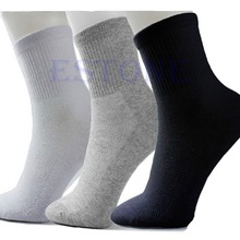 10 Pairs Lot Man Cosy Cotton Sport Socks For Football Basketball 3 Colors Y107