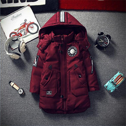Boys cotton long thicker 2018 New children's clothing children's cotton jacket Korean version of the big child winter clothing