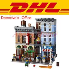 DHL LEPIN 15011 City Street Creator Detective's Office House Model Building Blocks Set Comapatible with 10246