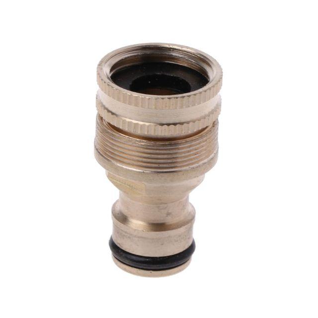 Adaptateur de tuyau rapide femelle 2-en-1 | Robinet de tuyau de jardin en laiton, embout de robinet fileté femelle
