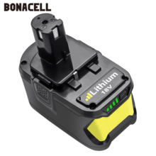 Bonacell 18V 9000mAh Li-Ion P108 Battery For Ryobi  Rechargeable  Battery RB18L40 P2000 P310 for BIW180 L30  lithium batter znter battery for ryobi 18v 6000mah p108 rb18l40 lithium ion rechargeable battery pack power tools battery ryobi one