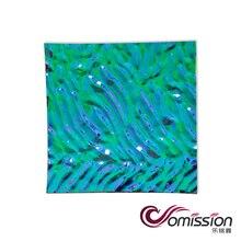 Высокое качество 1 шт. квадратное дихроическое стекло COE 90 дихроическое стекло и микроволновая печь фьюзинг дихроическое стекло diy кулон