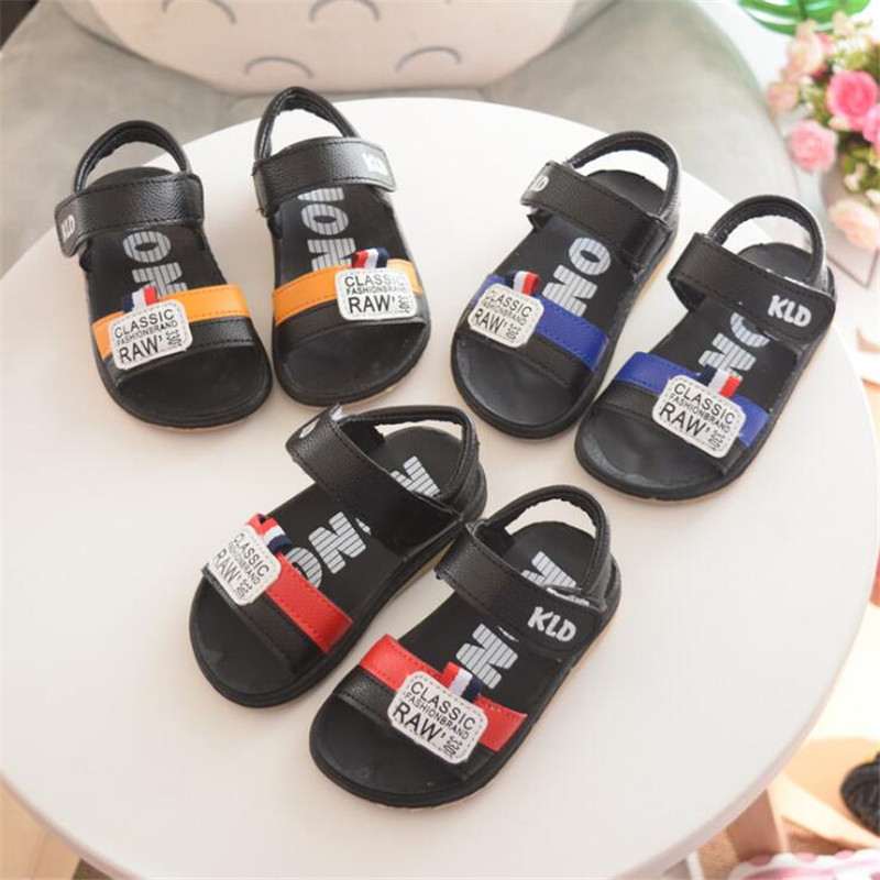 Summer slip sandals Chileren boy Hook&Loop beach sandals Mix color 21-26 for 1-4years TX04