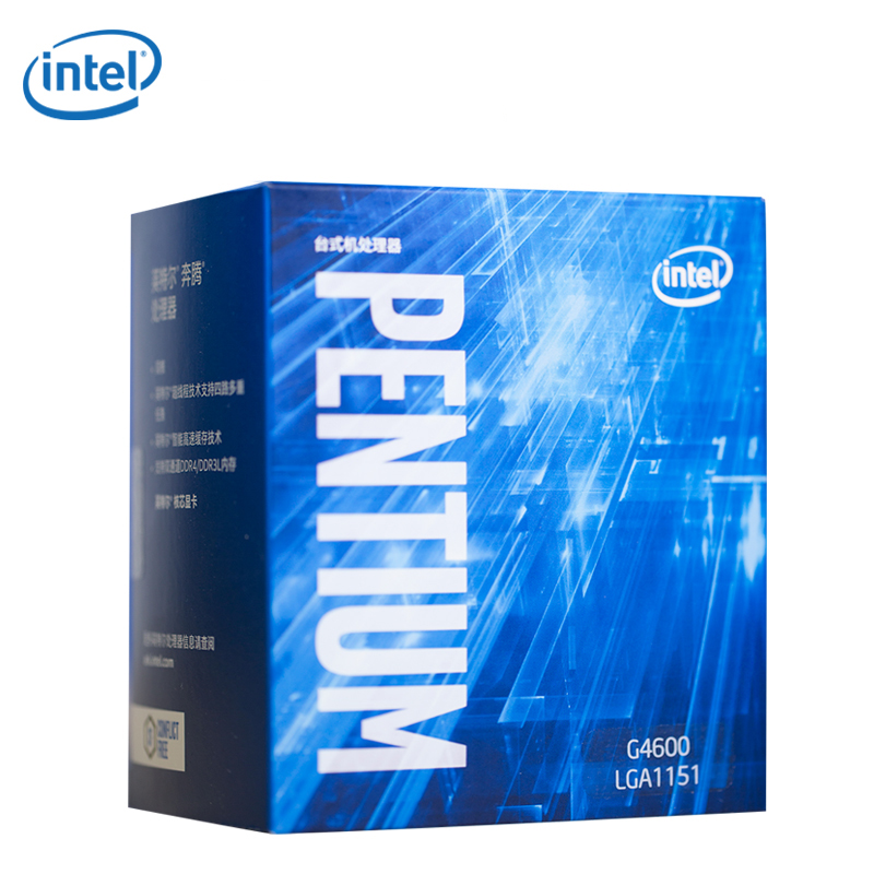 Intel / Intel G4600 Seventh Generation Chinese Boxed Processor Pentium Dual - Core Quad - Threaded CPU