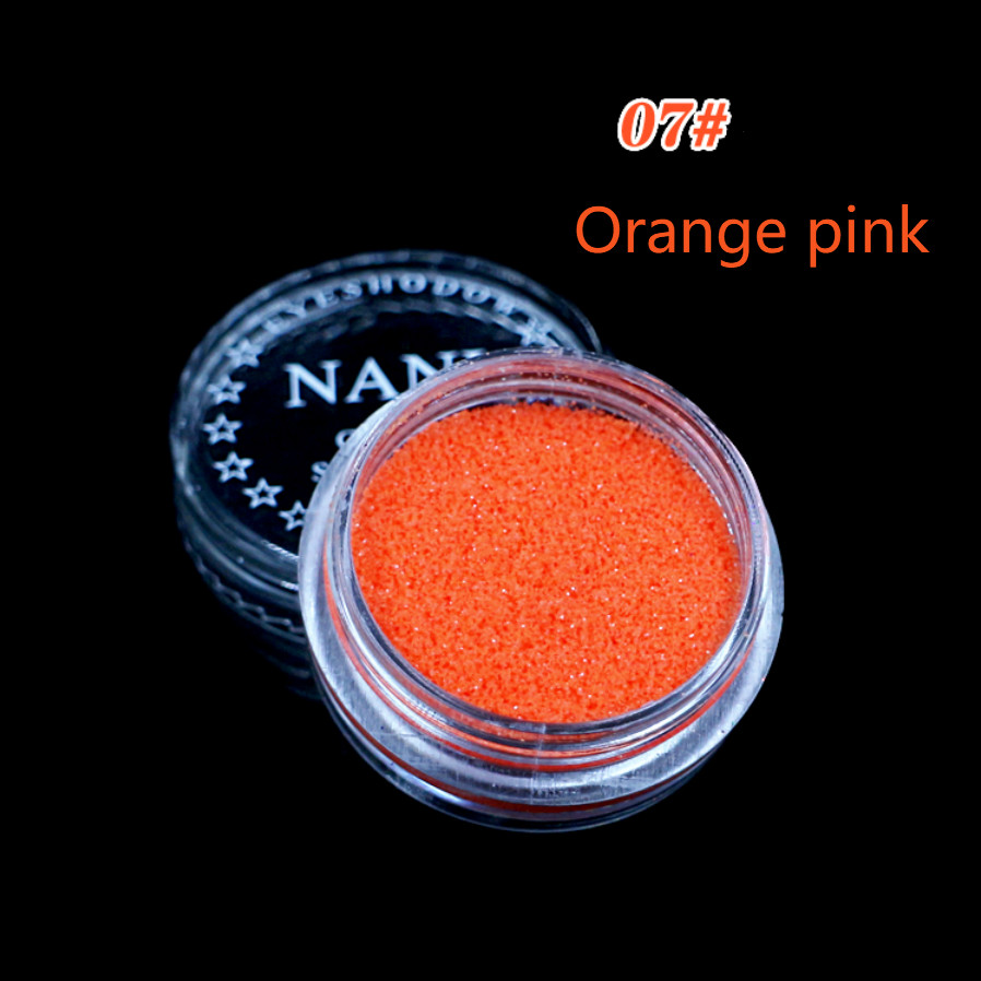 1 Box Orange Rosa 23 Farbe Glitter Lidschatten Pulver Pigment Mineral Spangle Glatte Make-up Kosmetische Set Wasserdicht Langlebige