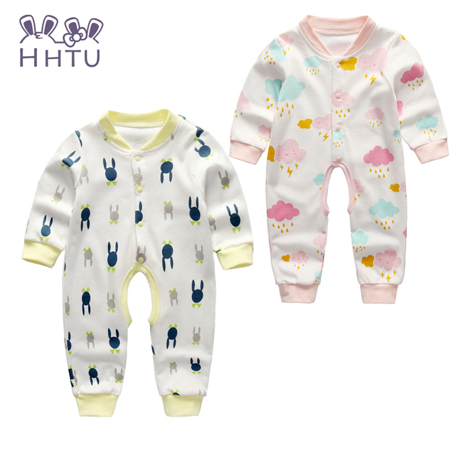 Hhtu2016 bebê bonito clothing longo macacão macacão período eo novo do bebê do algodão subir roupas romper do bebê de ar condicionado