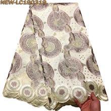 Нигерийские африканские кружевные ткани высокого качества для мужчин хлопок сухое кружево с камнями швейцарская вуаль кружева в швейцарской JRE03