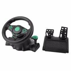 Рулевое колесо с поворотом на 180 градусов, игровой вибрирующий гоночный руль с педалями для XBOX 360, PS2, PS3, ПК, USB, рулевое колесо