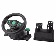 180 Degree Rotation Gaming Vibration Racing Steering Wheel With Pedals For XBOX 360 For PS2 For PS3 PC USB Car Steering Wheel цена
