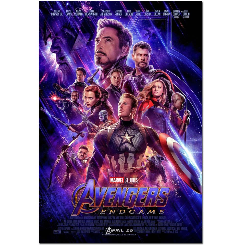 Avengers Endgame 4 2019 Hot New Marvel Movie Art Poster Superhero Film Print 16x24 24x36 inches