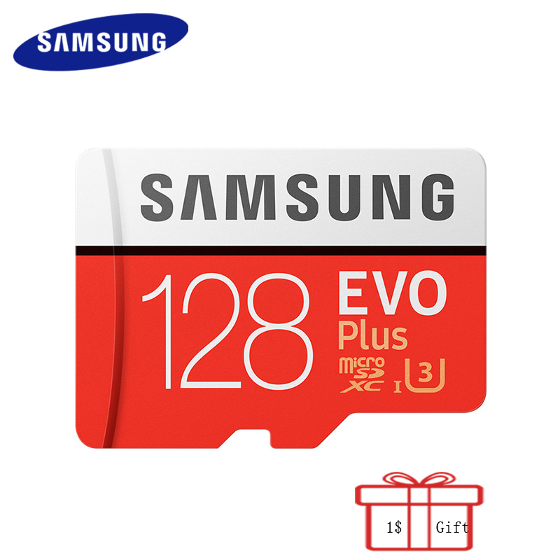 100% Original SAMSUNG MicroSD Card 128G 100Mb/s EVO Plus Memory Card Flash TF Card for Phone Pc Tablet with Mini SDXC Class10 U3