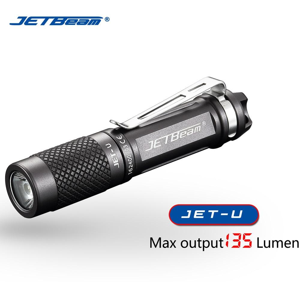 JETbeam JET U (JET) XP G2 135LM Mini Tragbare Wasserdichte LED Taschenlampe Latarka Handheld Linterna teleskop baton