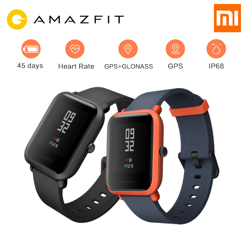 Xiaomi Huami Amazfit Pace Bip BIT Youth Version Sports Smart Watch GPS Tracker GLONASS Compass 45 Days Standby Heart Rate#C1 english version original xiaomi huami amazfit youth smart watch bip bit face gps fitness tacker heart rate baro ip68 waterproof