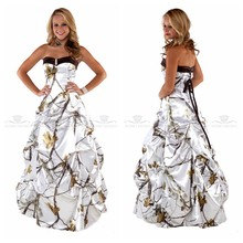 1b9ade40696 White Real Tree Camo A-Line Wedding Dress 2019 Draped Lace Up Back Bridal  Gowns Custom Camouflage Vestidos De Mariee Cheap
