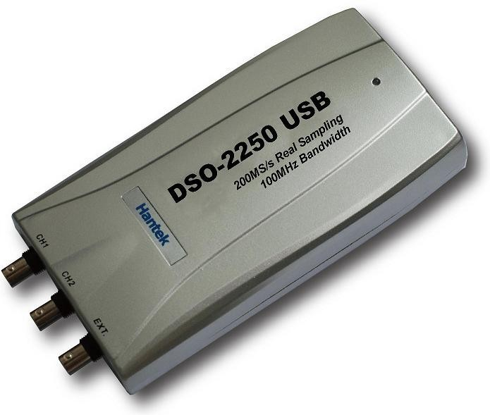 Hantek DSO-2250 USB PC based USB Oscilloscope 100MHz 250MS/s 2 Channels Digital Oscilloscope