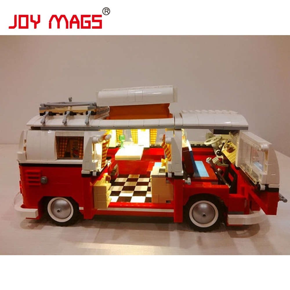 Joy mags light bricks led building blocks kit for creator 10220 the volkswagen t1 camper van - Lego brick caravan a record built piece by piece ...