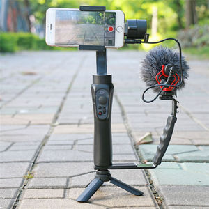 Image 5 - Ulanzi L Mic Stand Met 2 Hot Shoe voor iPhone Zhiyun Glad Q Stabilizer/Feiyu Gimbal/Boya By MM1 microfoon/Video Light Stand