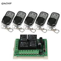 QIACHIP 433Mhz DC 12V Wireless 4CH RF Relay Remote Control Switch Receiver Module 433 Mhz 4