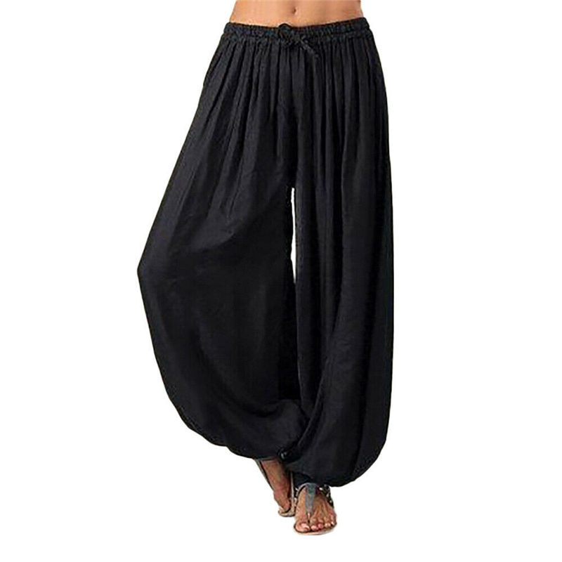 Summer Women Harem Pants New Style Solid Color Ladies Trousers Casual Low Waist Hippie Pants Women Trousers Loose Woman Leggings
