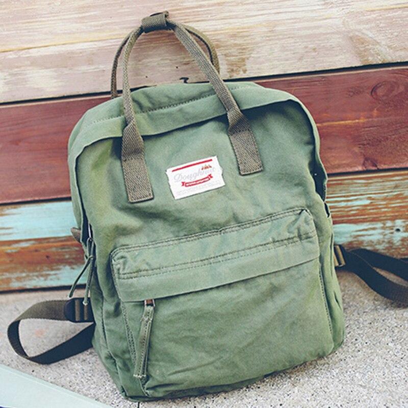 ZHIERNA Women Backpack Bag Schoolbag Student Summer Canvas Shoulder Korean Casual Trend Middle School Girls Travel Package Cute