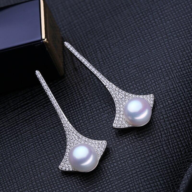 FENASY saldūdens pilienveida pērļu auskari AliExpress 925-sudraba - Skaistas rotaslietas - Foto 5