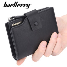 Baellerry Fashion Men Wallets Pu Leather Business Casual Male Hasp Zipper Card Holder Wallet Purse