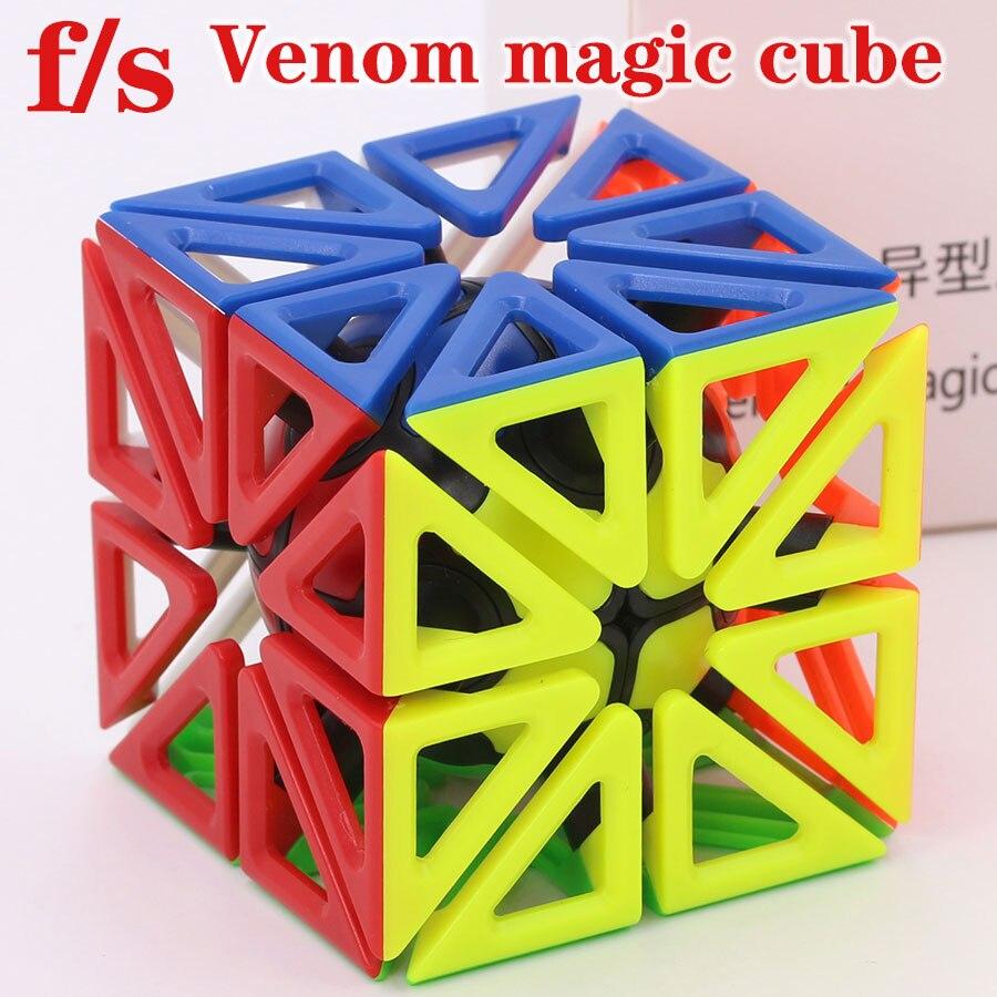 Puzzle Magic Cube Fangshi fs limCube 2x2x2 Venom magic cube puzzle strange shape wisdom professional educational Logic game gift
