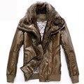 Кожаная Куртка Мужчины chaqueta Jaqueta Couro Masculino Бомбардировщиков Мотоцикл Зимние Кожаные Куртки Пальто jaqueta де couro masculina