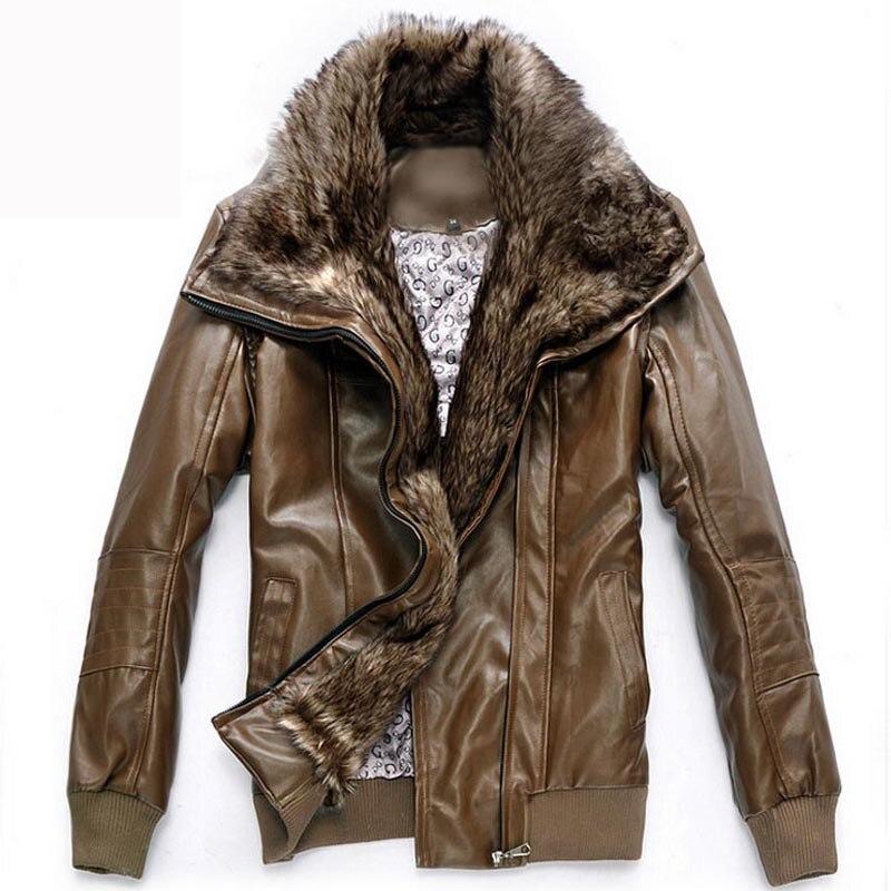 Leather Jacket Men chaqueta Jaqueta Couro Masculino Bomber Motorcycle Winter Leather Jackets Coat jaqueta de couro masculina
