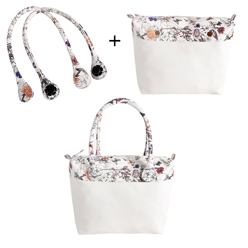 LHLYSGS 1 Pair Classic Obag Handles And Obag Inner Bag Removable Matching Women Fashion Italy Style Shoulder Bag With Handbag