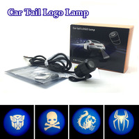 Motorcycle Motor Styling Laser Decorative Projection Tail Anti Collision Fog Taillight Brake Warning LED Lamps Lights