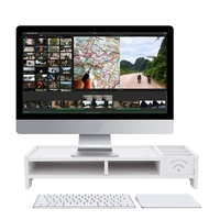 Multi Function Desktop Monitor Stand Computer Screen Riser Wood Shelf Plinth Laptop Strong Laptop Stand Holder