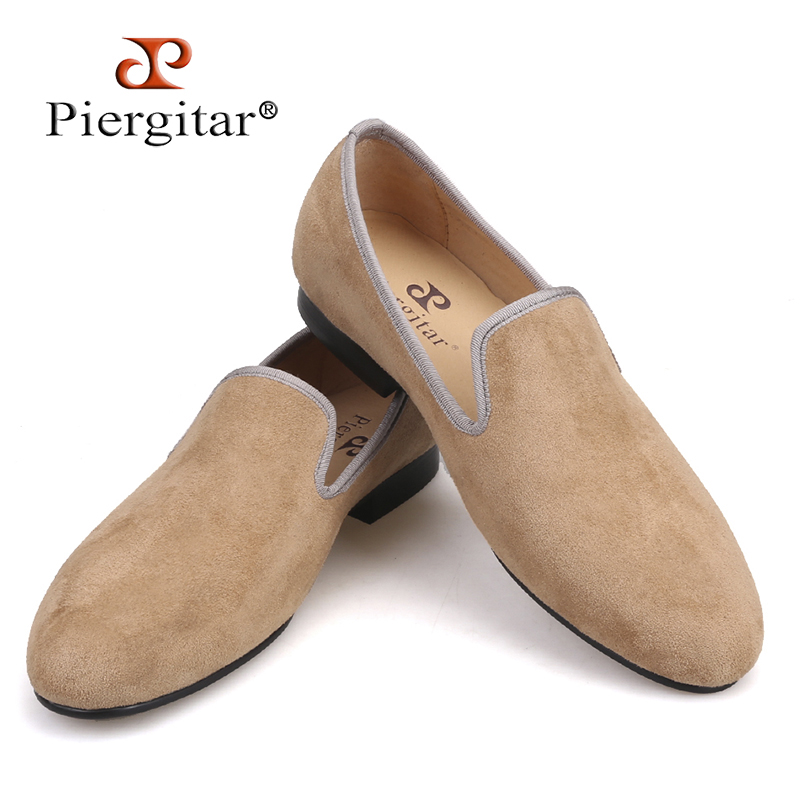 Piergitar Fashion Men Suede shoes Handmade men loafers for party and wedding prom breathable leather insole slip-on men's flats new arrived royal blue rhinestone mens loafers luxury fashion slip on men suede shoes handmade men s wedding and prom shoes