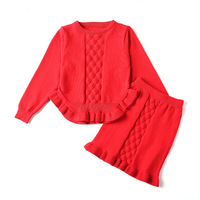 Children Girls Clothing 2018 Summer Baby Girl Clothes knit skirt Kids Outfit Clothes Toddler tutu skirt Girls Clothing 2PC Sets