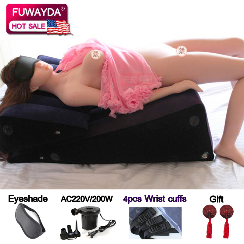 2pcs Triangle Luxury Portable Air Inflatable Bed Sofa Multi-Fun Adult Sex Sofa Living Room Furniture Couple Erotic Sofas
