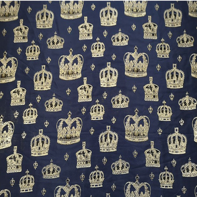 SASKIA 1Meter An Crown Jacquard Brocade Fabric For Dress Men Suit Clothing Metallic Yarn Dye Fabrics Patchwork Navy Wine Diy in Fabric from Home Garden