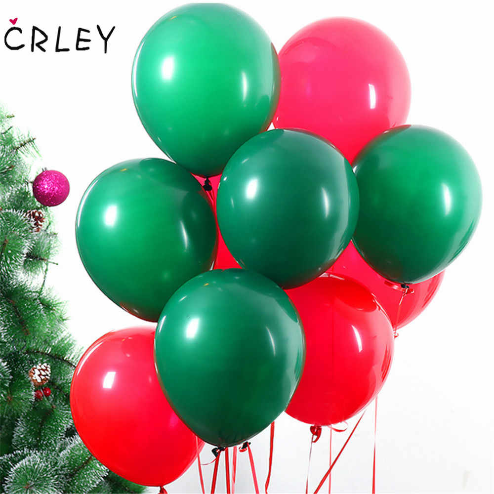 10pcs 10-Inch Latex Balloons Green Red Christmas Wedding Baloons Birthday Balloons Balls Child Toys Gifts For Party Decoration