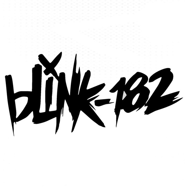 15 27 2cm blink 182 text car styling stickers fashion punk rock car decal