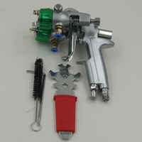 SAT1189 polyester spray paint two double nozzle pu foam wood painting chrome spray machine
