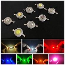 Full Watt LED Chip 1W LED Lamp Bulb Diodes Spot light Downlight Light-Emitting Diode High Power DIY LED Beads White Warm White недорого