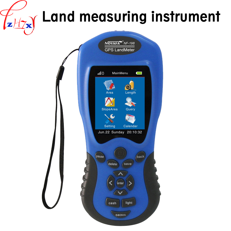 1PC NF-198 Hand-held GPS land surveymeter 3.7V English version of the vehicle measurement land surveying equipment free shipping noyafa nf 198 gps survey equipment land meter device use for farm land surveying and mapping area measurement