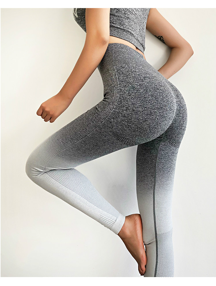 Ombre Seamless Gym Compression Tights