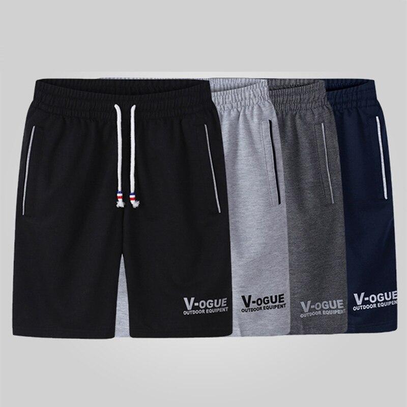 4PC Summer Beach Shorts Men 2019 Casual Bodybuilding Shorts Man Breathable Cotton Sporting Short Trousers Plus Size 4XL 5XL